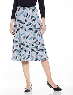 Warm Handle Dandelion Print Skirt