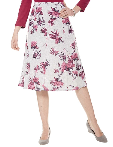 Warm Handle Floral Print Skirt