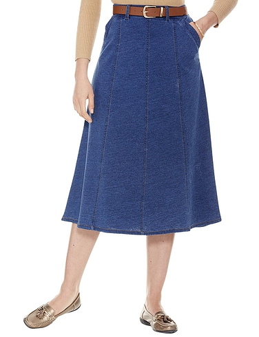 Jersey Denim Look Skirt