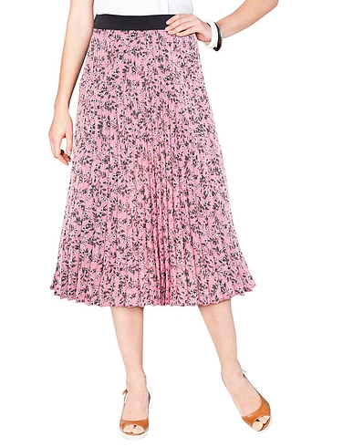 Permanent Pleat Print Skirt
