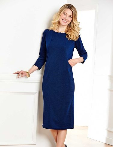 Round Neck Front Pocket Dress 40 Inches