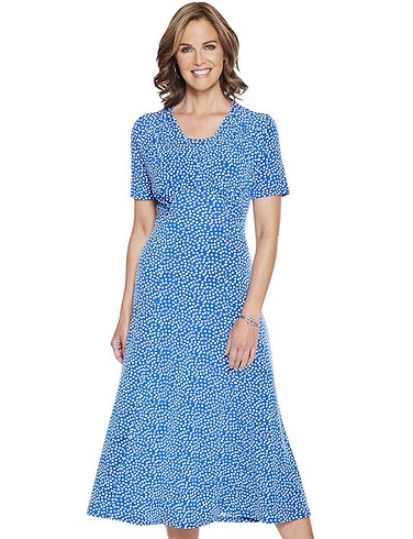 Spot Print Dress 46 Inches
