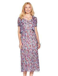 Crinkle Beaded  Dress & Bolero Set
