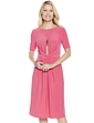 Wrap-over Front Dress - Magenta