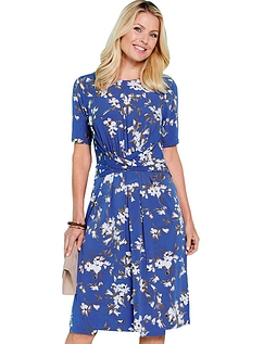 Wrapover Front Dress Print