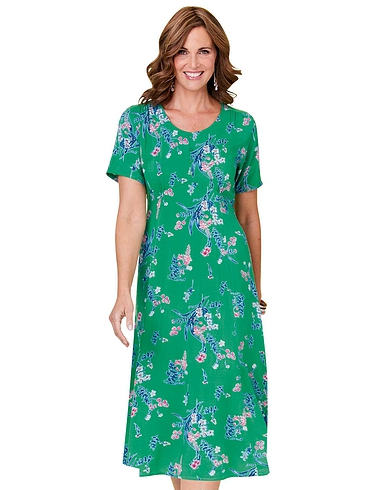 Viscose Print Tea Dress