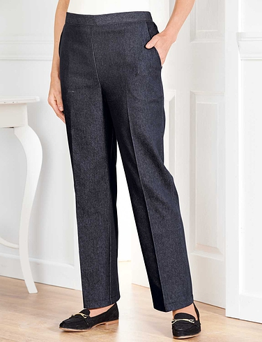 1/2 Elastic Back Denim Trouser