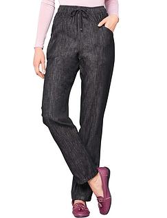 Ladies Elasticated Waist Pull On Jean - Black