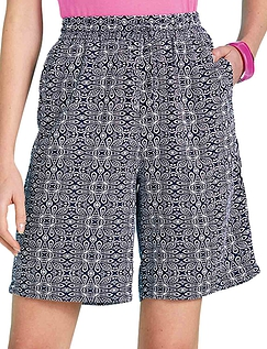 Pull On Viscose Short