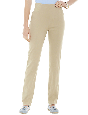 Side Elastic Panel Pull On Ladies Trousers