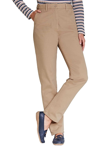 Brushed Cotton Hidden Elastic Waist Trouser
