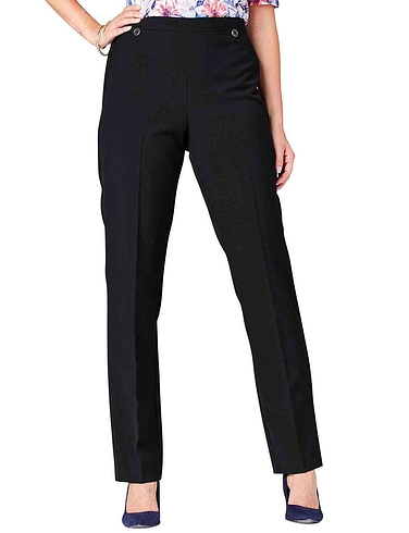 Button Side Zip Trouser