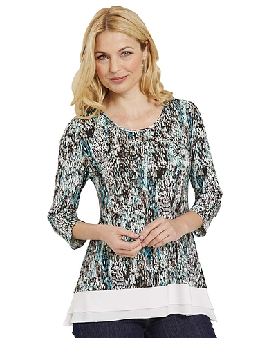 Double Layer Tunic Top