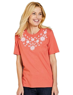 Embroidered T-Shirt - Spice