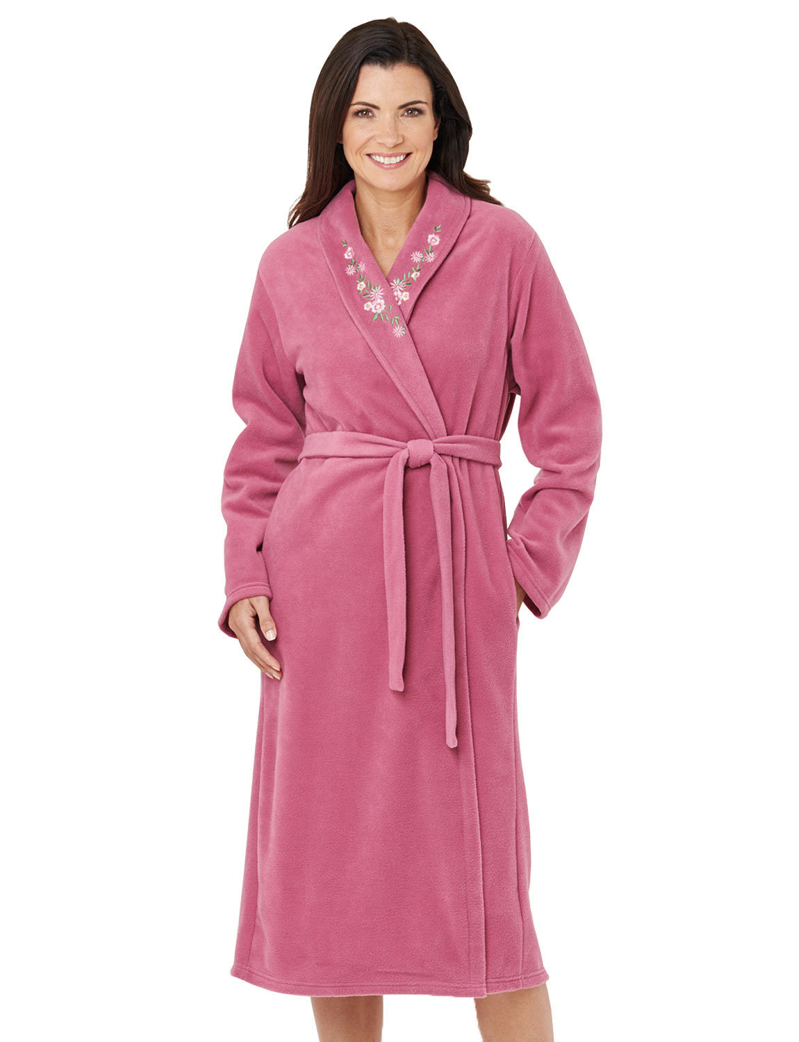 embroidered fleece dressing gown chums. Black Bedroom Furniture Sets. Home Design Ideas