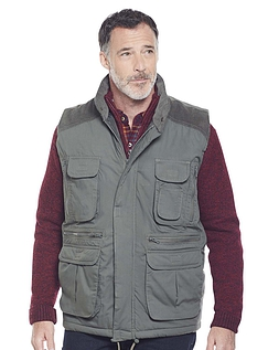 Multi Pocket Gilet - Khaki