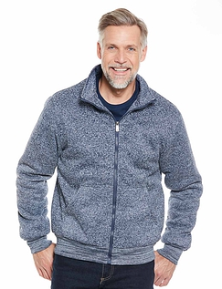 Zip Through Fleece With Plush Fleece Lining