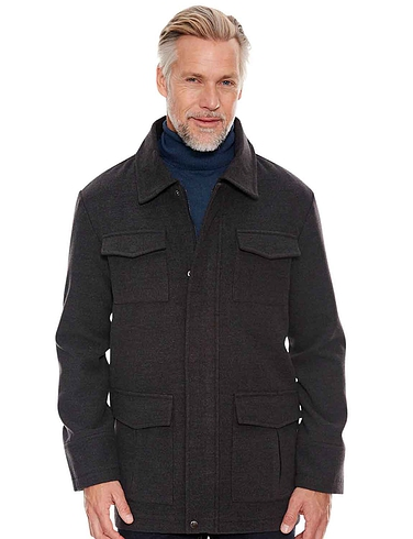 Pegasus Wool Touch Jacket - Charcoal
