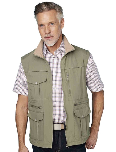 Pegasus Men's Lightweight Multi Pocket Travel Gilet