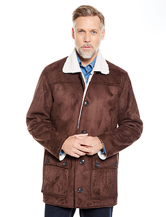 Pegasus Mock Sheepskin Carcoat