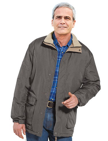 Half Fleece Lined Car Coat