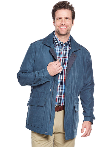 Mens Aldon 3/4 Length Micromoss Carcoat