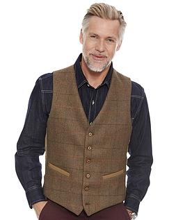 Tweed Waistcoat - Brown