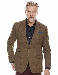 Tweed Sports Jacket - Brown