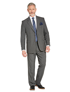 Mix & Match Suit Jacket in Teflon Coated Fabric - Grey