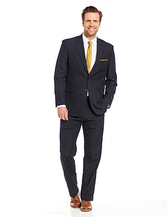 Mix & Match Suit Jacket in Teflon Coated Fabric - Navy
