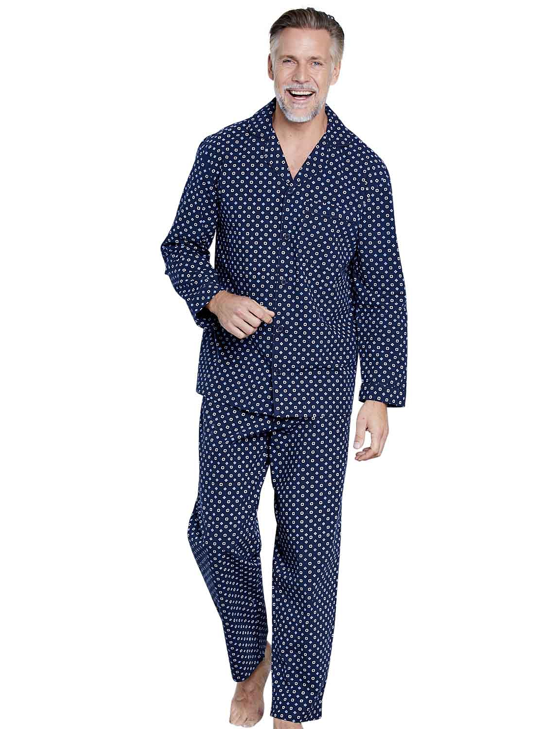 Mens Tootal Cotton Design Gown