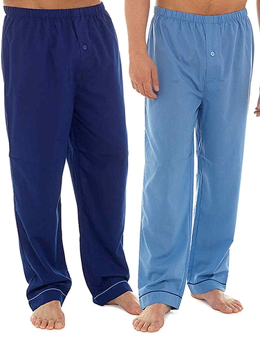 Mens Two Pack Poly Cotton Lounge Pants - Assorted