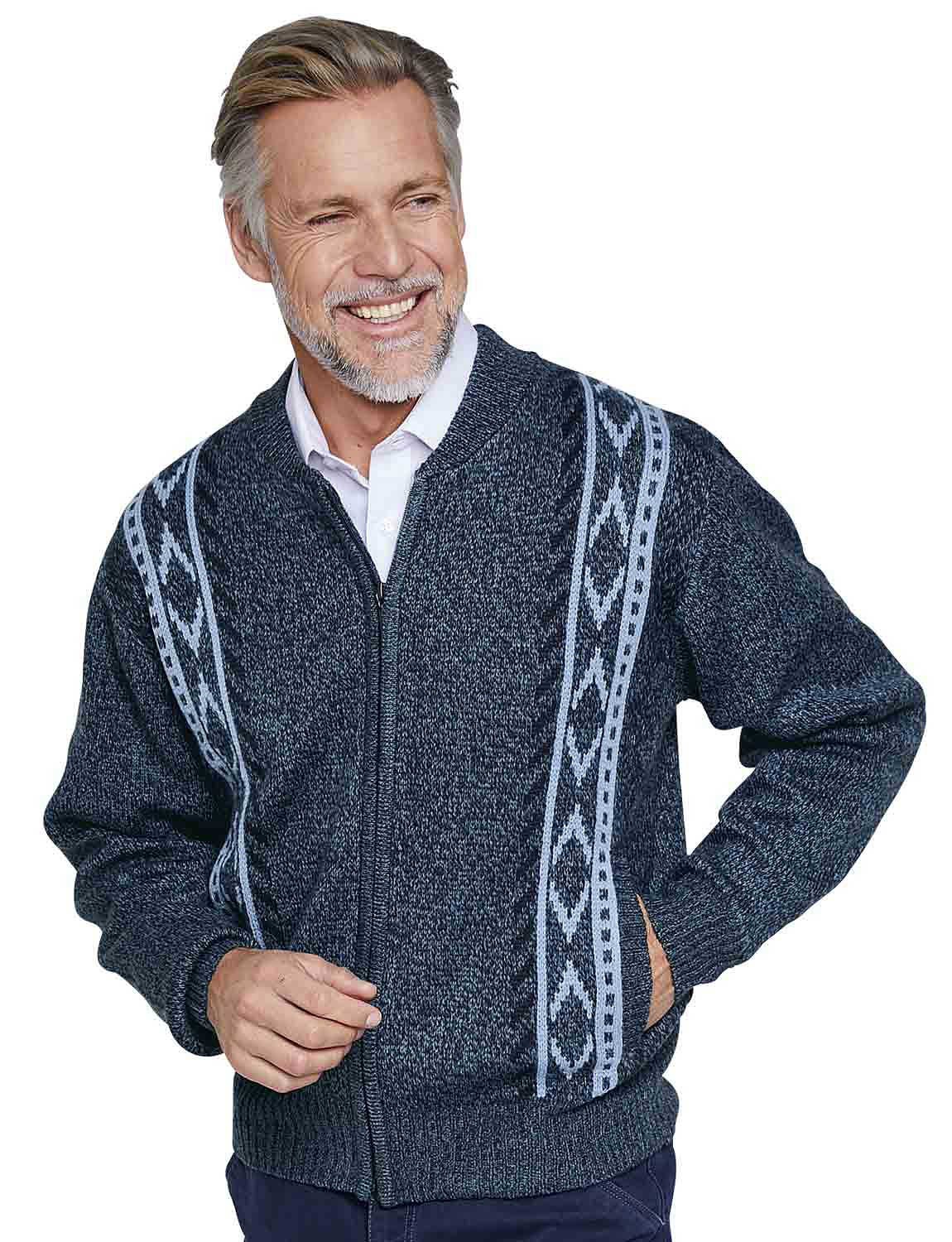 Chums Mens Tootal Fleece Lined Cardigan