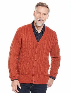 Shetland Wool Cable Cardigan