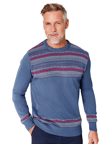 Crew Neck Fairisle Jumper