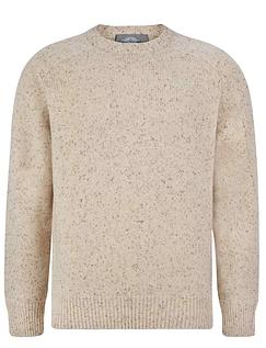 Peter Gribby  Lambswool Crew Neck Sweater - Aran