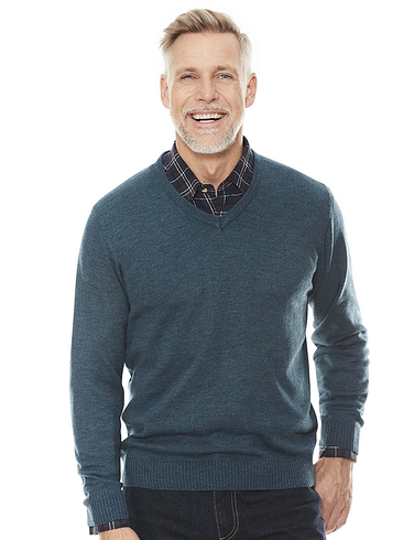 Cashmere Like V Neck Sweater
