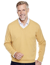 Pegasus Fine Gauge V-Neck Sweater