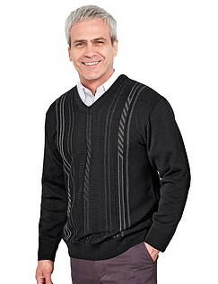 Woodville Jaquard V Neck Sweater