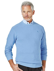 Pegasus Moss Stitch Crew Neck Sweater