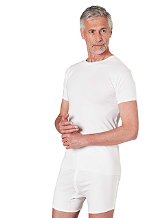 Long Back Cotton Tee Top Vests (Pack of 2) - White