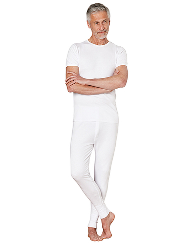 Thermal long pant - White