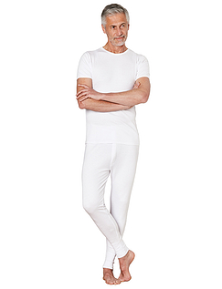Thermal Long Back Vest - White