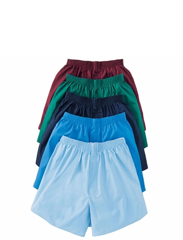 Pack Of 5 Cotton Mixed High Rise Boxer Shorts