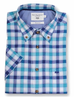 Bar Harbour Check Short Sleeved Casual Oxford Shirt