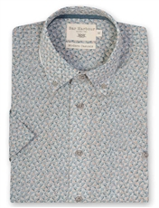 Bar Harbour Green Patterned Short Sleeve Casual Shirt