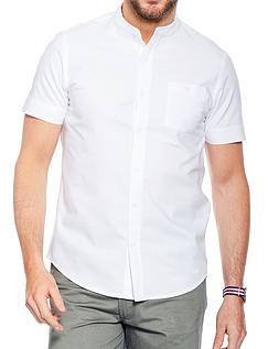 Short Sleeve Grandad Collar Shirt