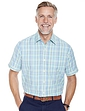 Short Sleeve Mini Check Shirt with Chest Pocket