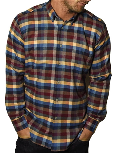 Southern Comfort Long Sleeve Brushed Check Shirt