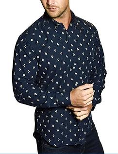 Southern Comfort Long Sleeve Aztec Print Shirt